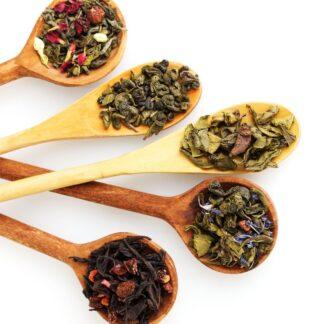 Loose Leaf Tea and Coffee Beans
